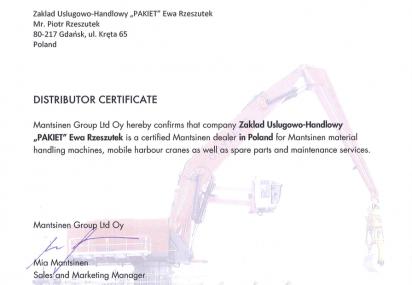 Certyfikat MANTSINEN